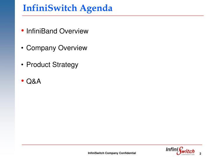 InfiniSwitch Agenda