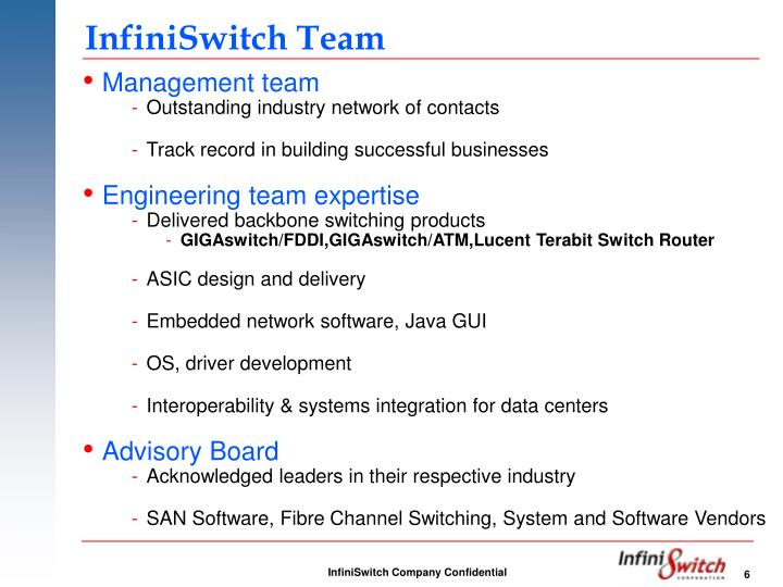 InfiniSwitch Team