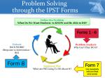 problem solving through the ipst forms