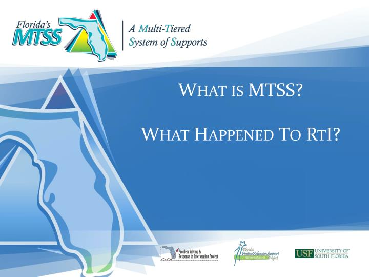 What is mtss what happened to rti
