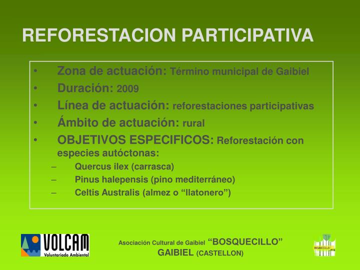 REFORESTACION PARTICIPATIVA