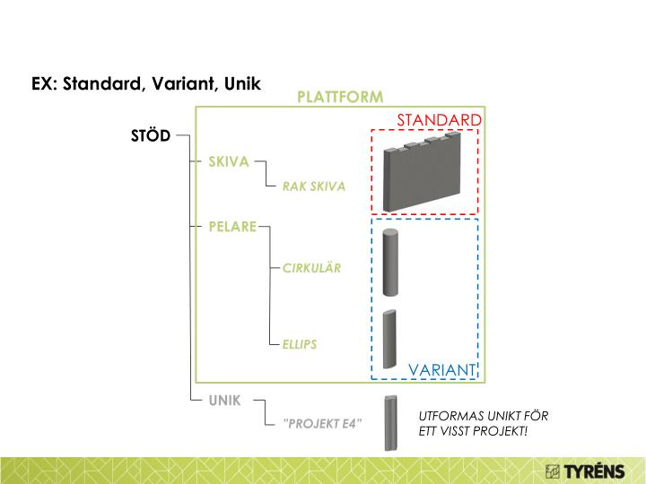 EX: Standard, Variant, Unik