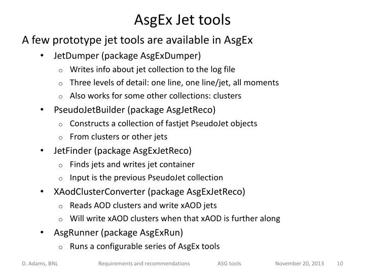 AsgEx Jet tools