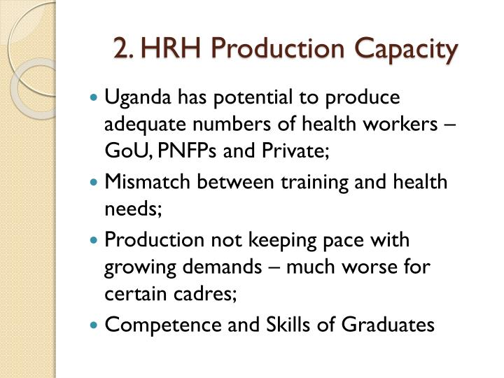 2. HRH Production Capacity