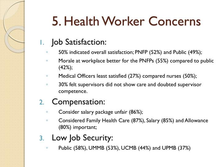 5. Health Worker Concerns