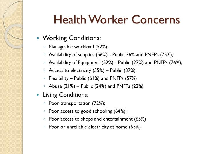 Health Worker Concerns