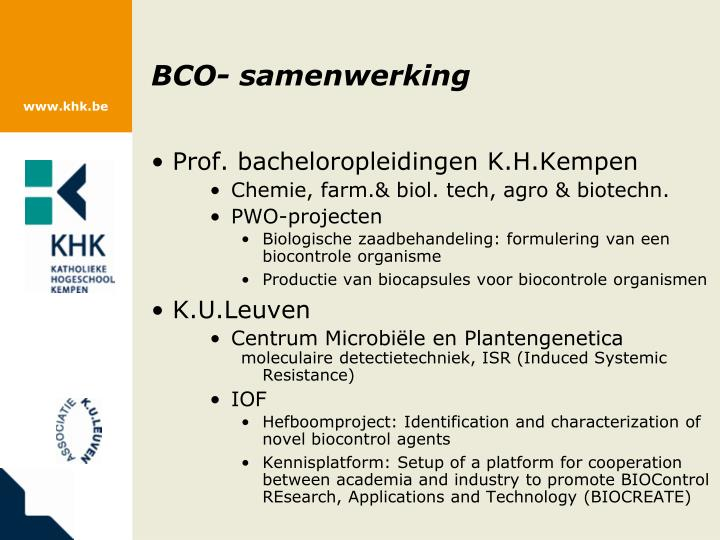 BCO- samenwerking
