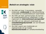 beleid en strategie visie