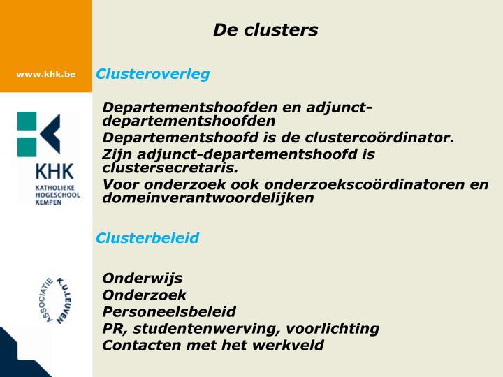 De clusters