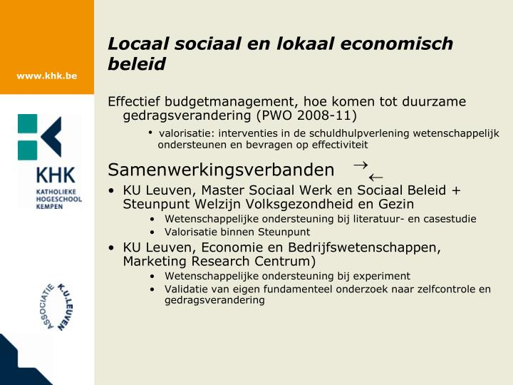 Locaal sociaal en lokaal economisch beleid