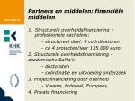 partners en middelen financi le middelen1