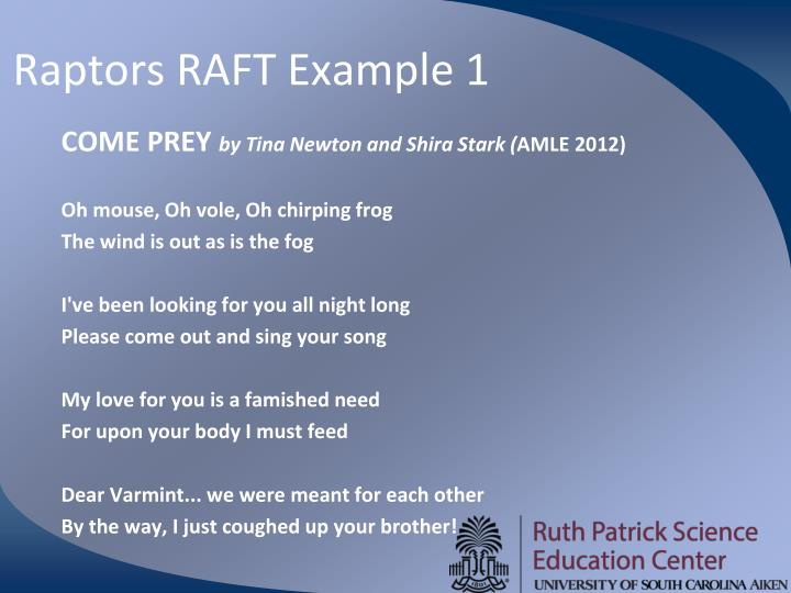 Raptors RAFT Example 1