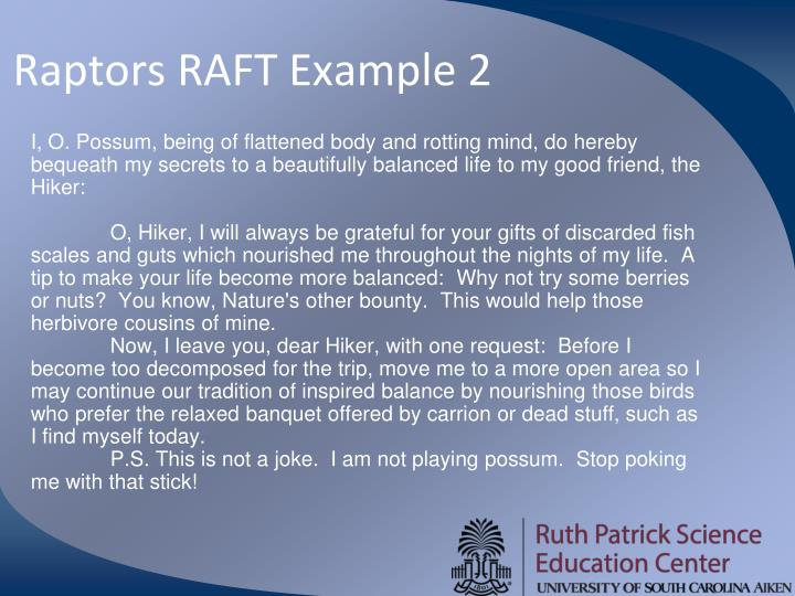 Raptors RAFT Example 2