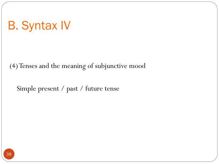 B. Syntax IV
