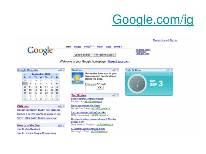 Google.com/ig