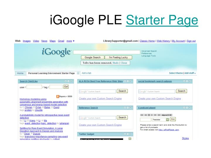 iGoogle PLE