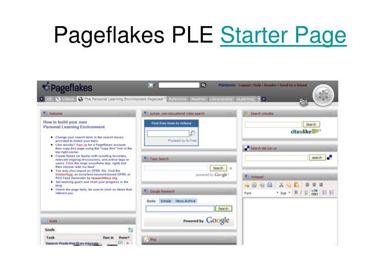 Pageflakes PLE