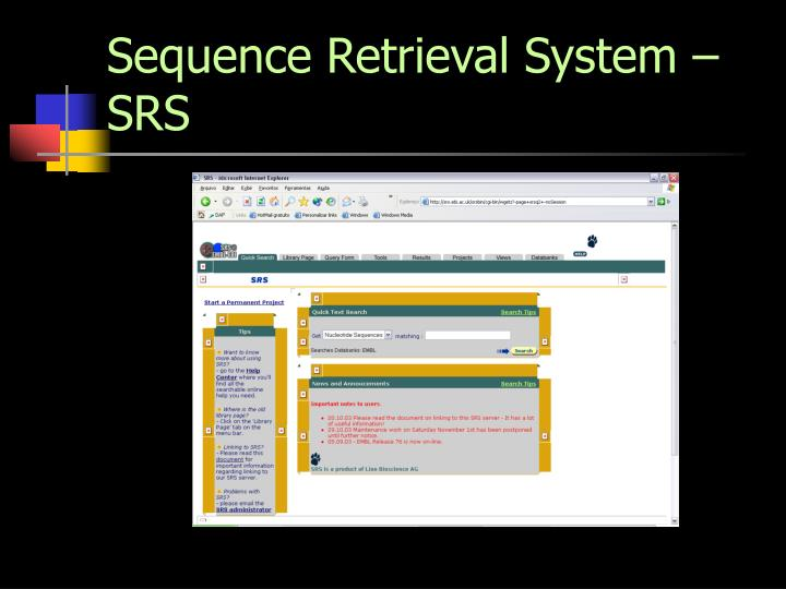 Sequence Retrieval System – SRS