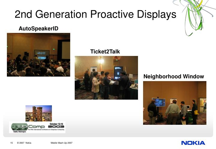 2nd Generation Proactive Displays