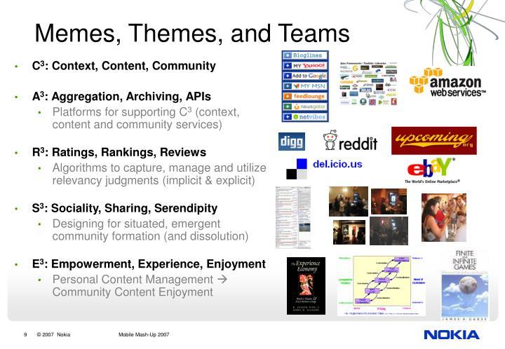 Memes, Themes, and Teams