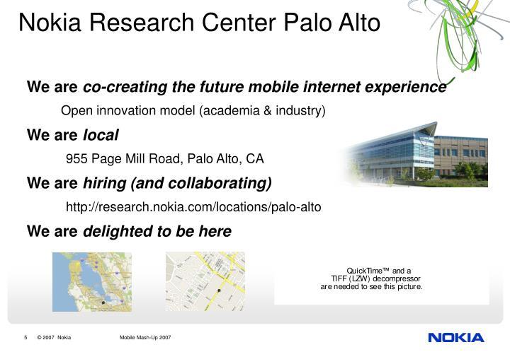 Nokia Research Center Palo Alto