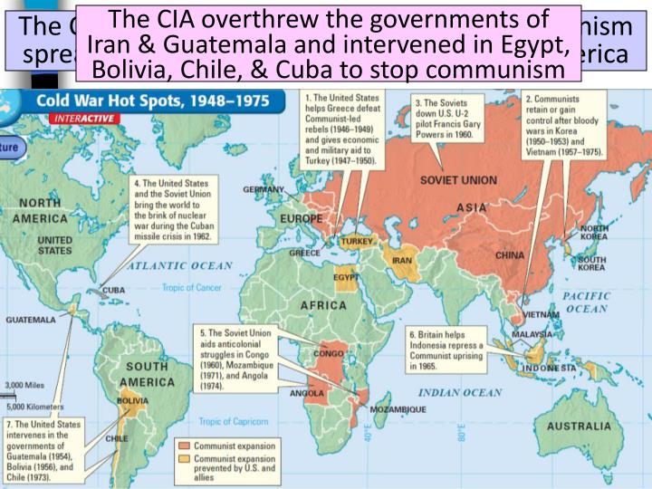 The CIA overthrew the governments of