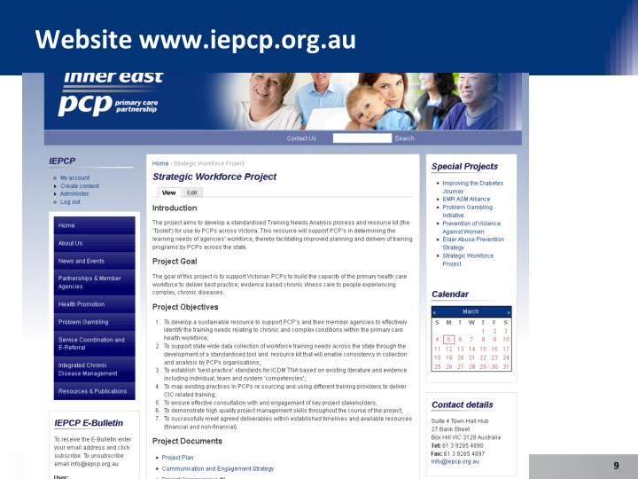Website www.iepcp.org.au