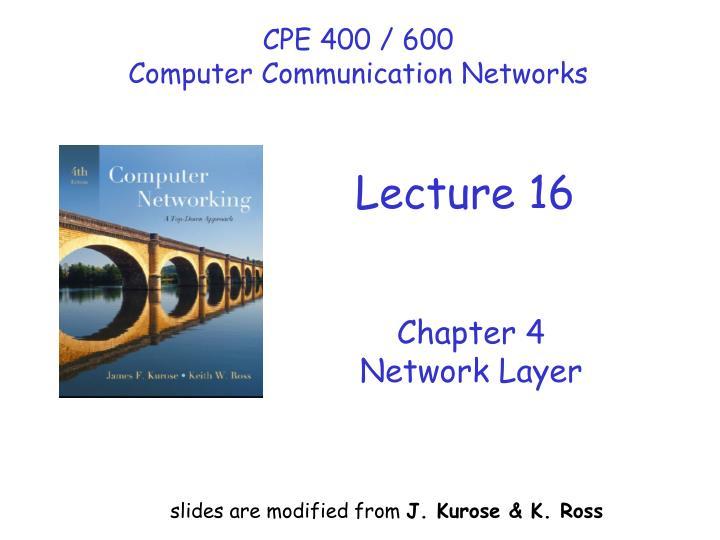 CPE 400 / 600