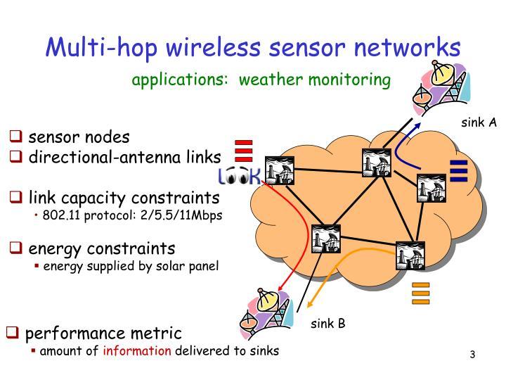 Multi-hop wireless sensor networks
