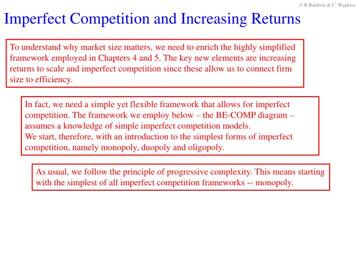 Imperfect Competition and Increasing Returns