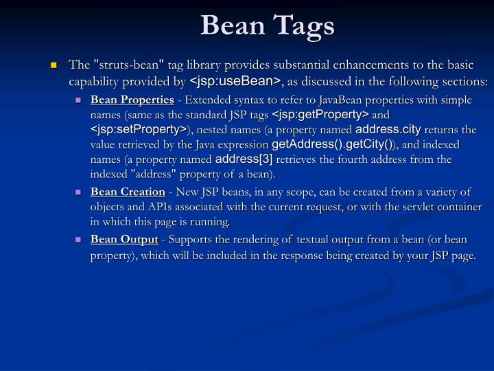Bean Tags