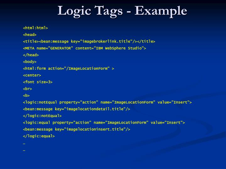 Logic Tags - Example