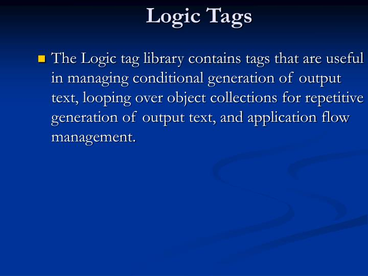 Logic Tags