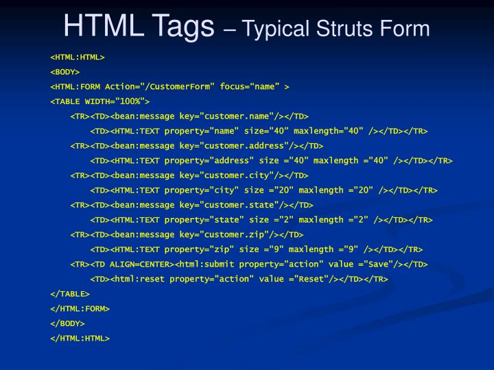 HTML Tags