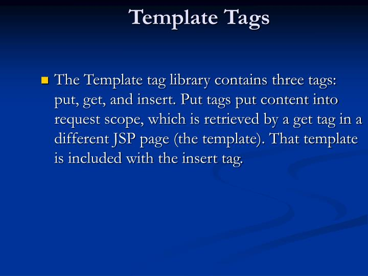 Template Tags