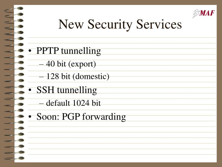 New Security Services