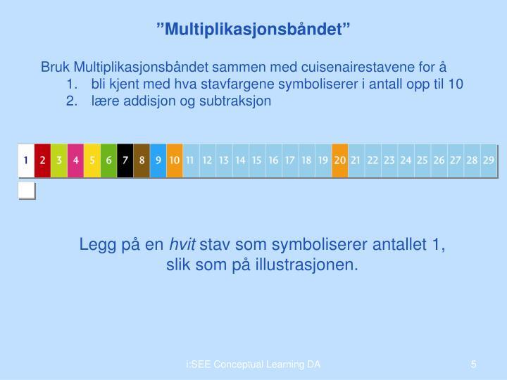 Bruk Multiplikasjonsbåndet sammen med