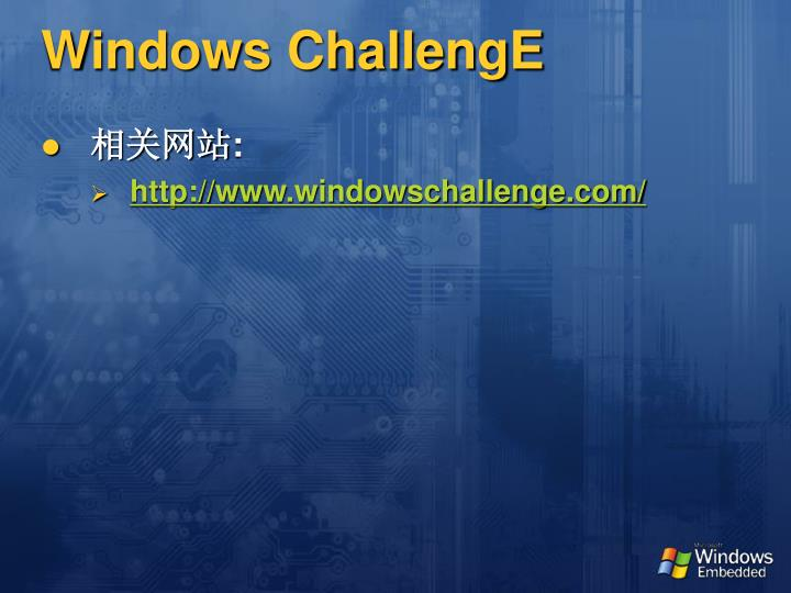 Windows ChallengE