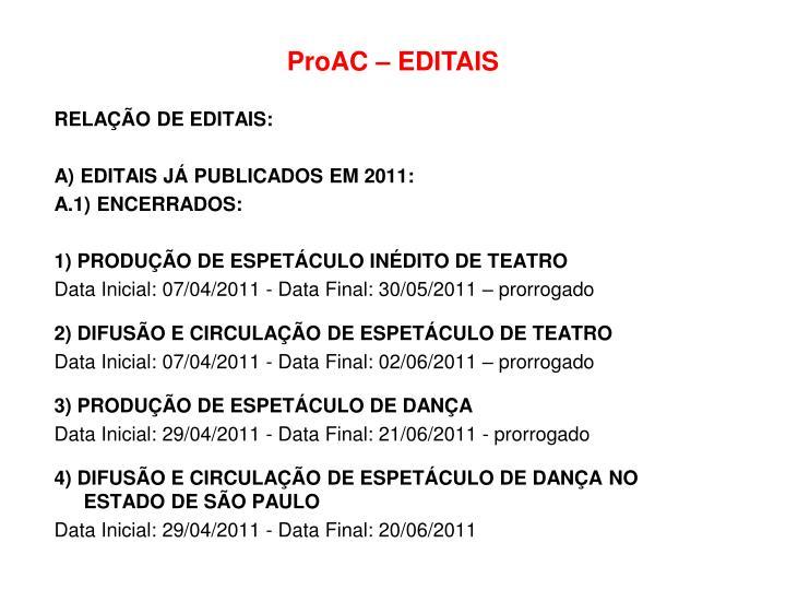 ProAC – EDITAIS