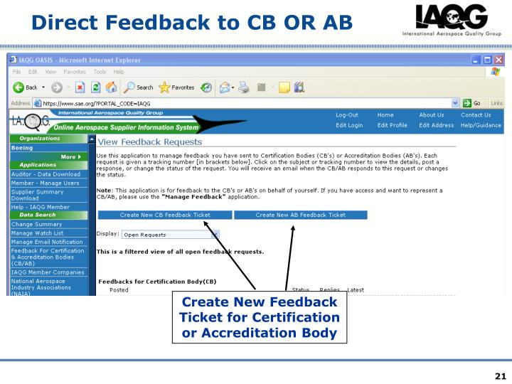 Direct Feedback to CB OR AB