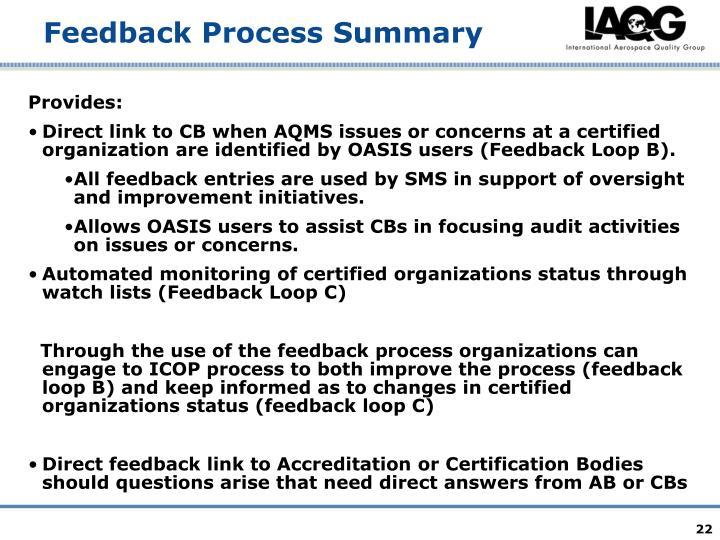 Feedback Process Summary