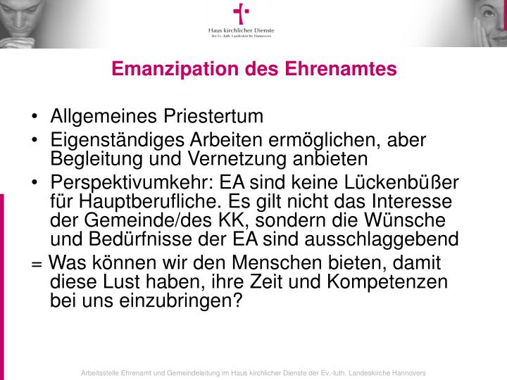 Emanzipation des Ehrenamtes