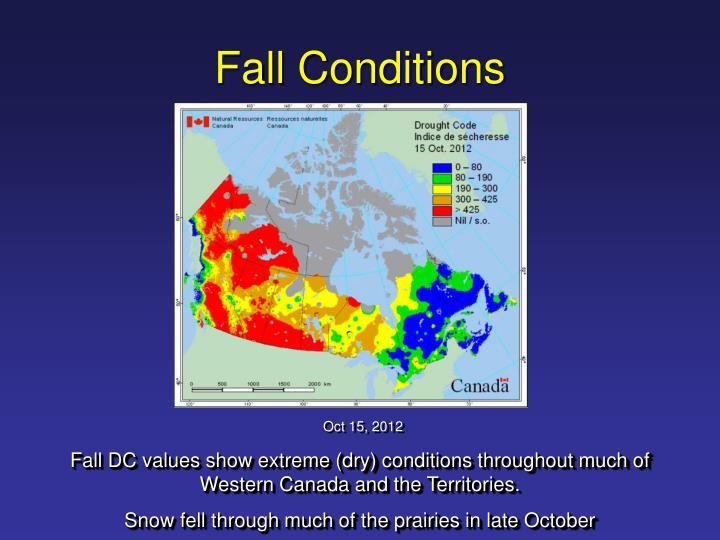 Fall Conditions