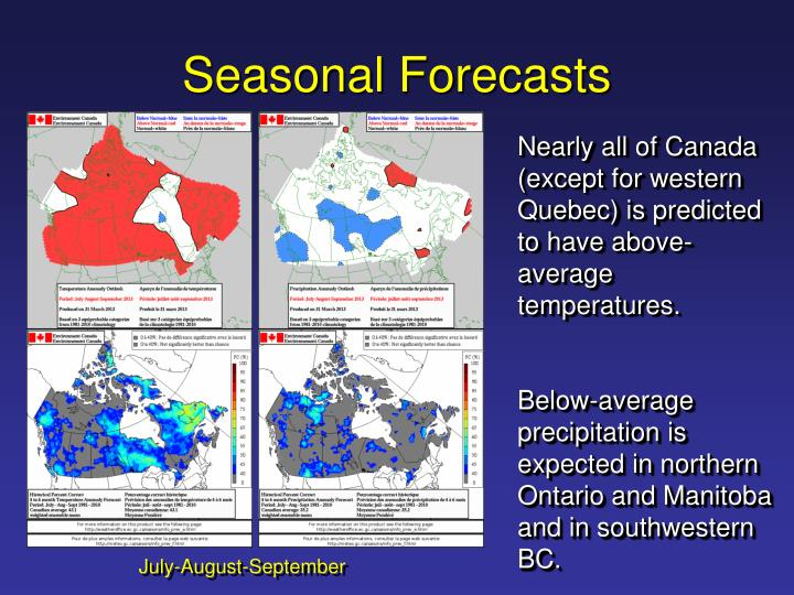 Seasonal Forecasts