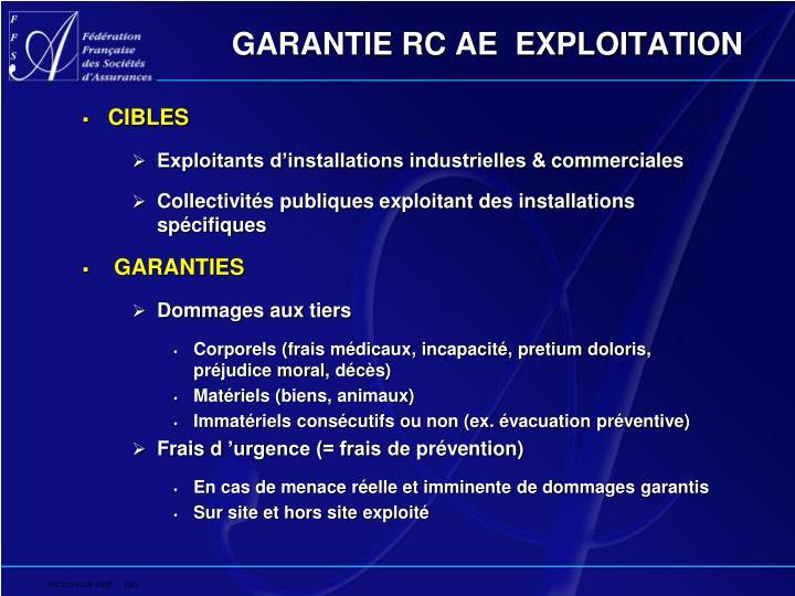 GARANTIE RC AE  EXPLOITATION