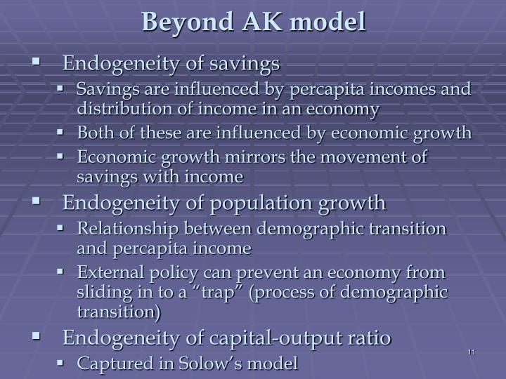 Beyond AK model