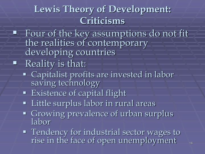 Lewis Theory of Development: Criticisms
