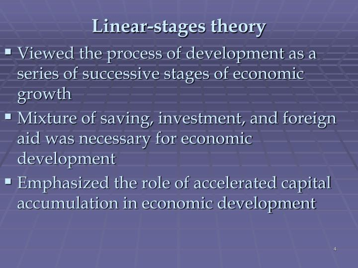 Linear-stages theory