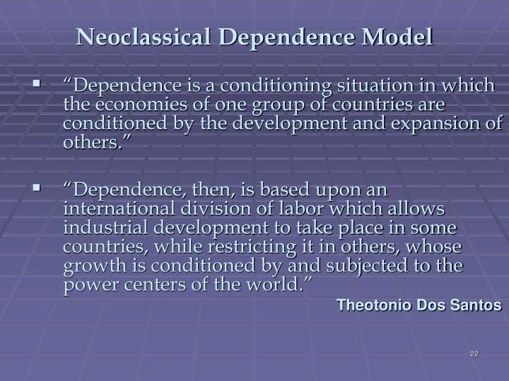 Neoclassical Dependence Model