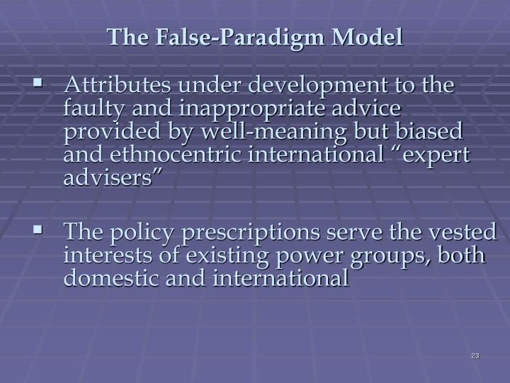 The False-Paradigm Model
